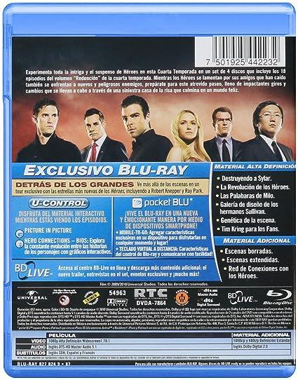 Amazon.com: HEROES / TEMPORADA 4 / BLU RAY: Movies & TV