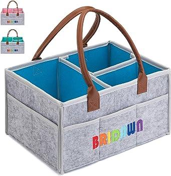 Bridawn Storage Bin Portable Diaper Tote Bag