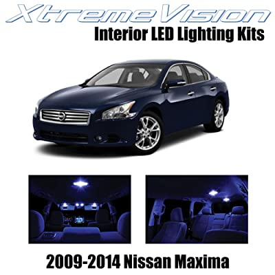 XtremeVision Interior LED for Nissan Maxima 2009-2014 (14 Pieces) Blue Interior LED Kit + Installation Tool: Automotive