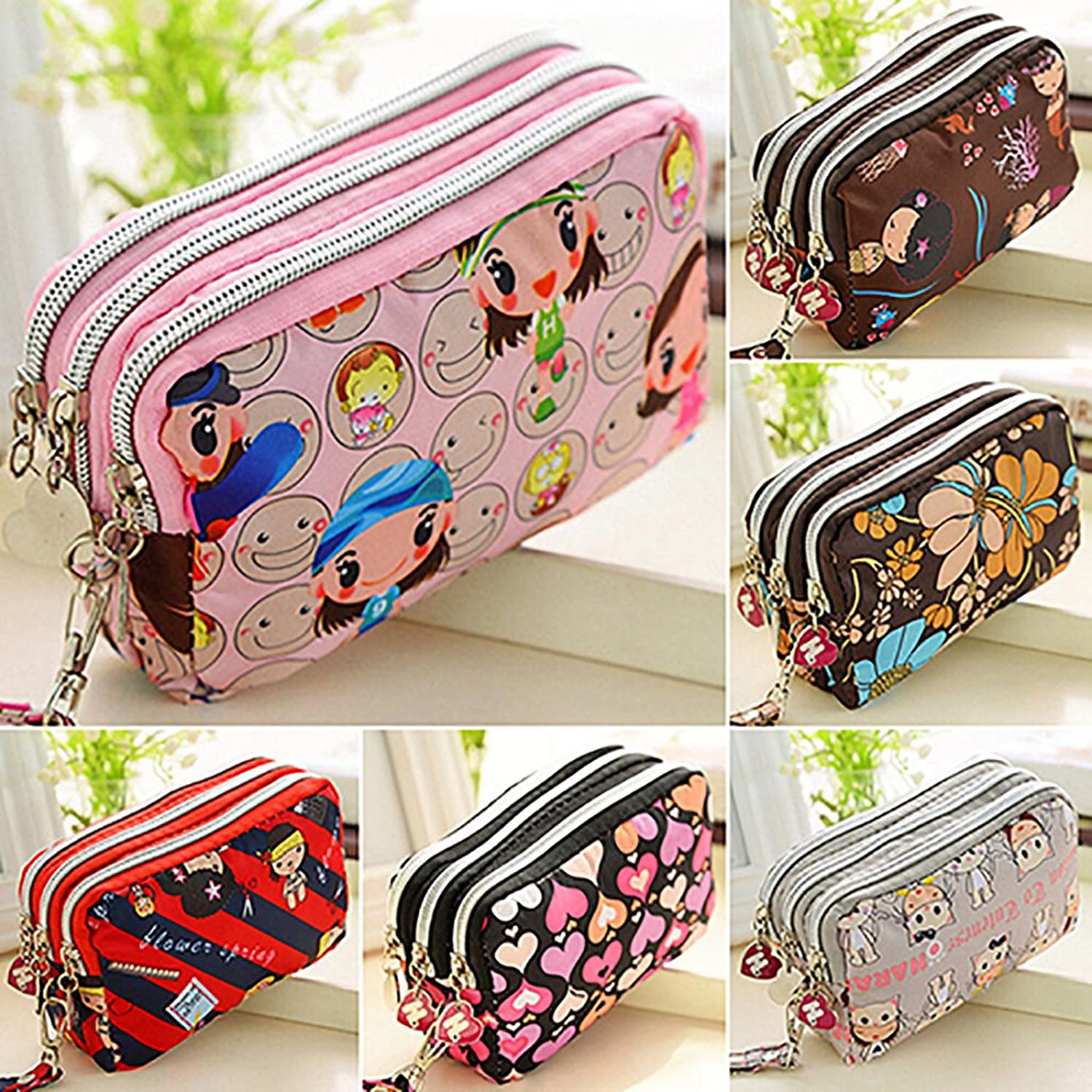 Womens Girls Wallet Zipper Clu...