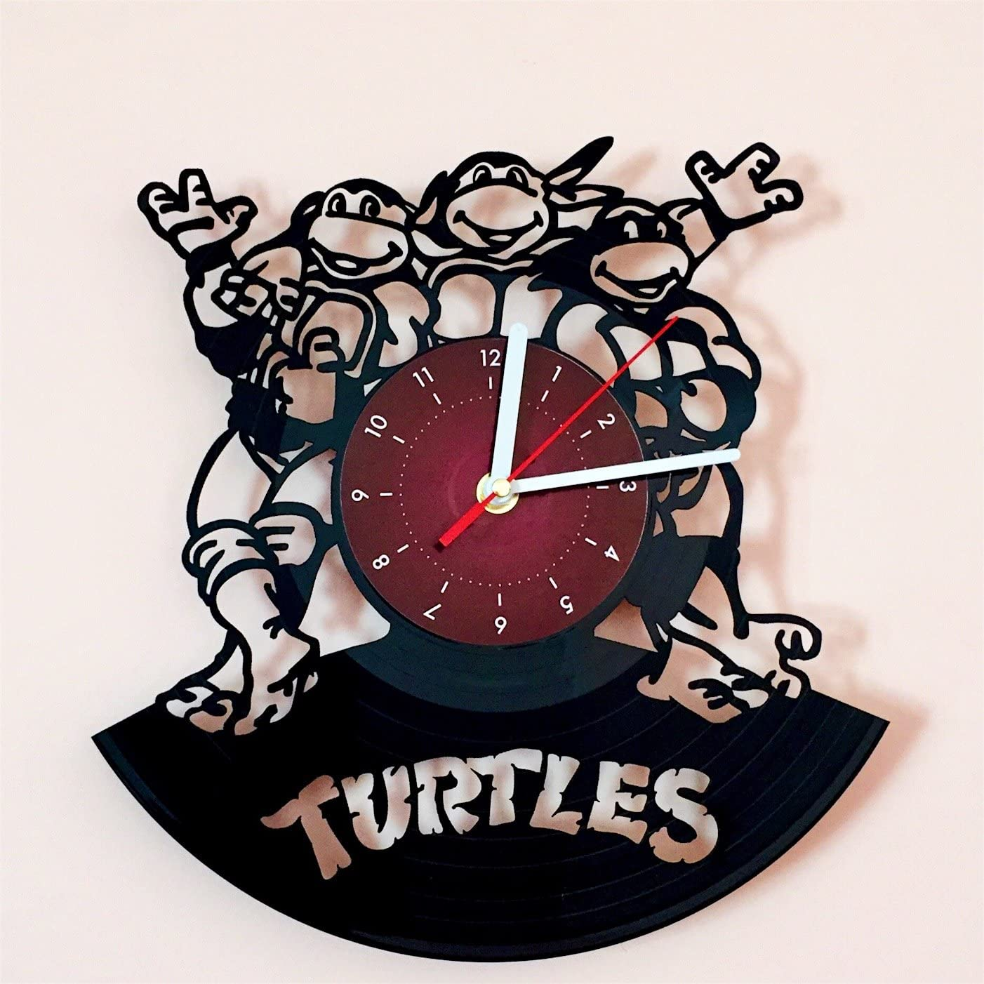 My Store For You Teenage Mutant Ninja Turtles Vinyl Record Wall Clock Kids Room Wall Decor Gift Ideas For Children Baby Brother And Sister Him And Her Amazon Ca Home