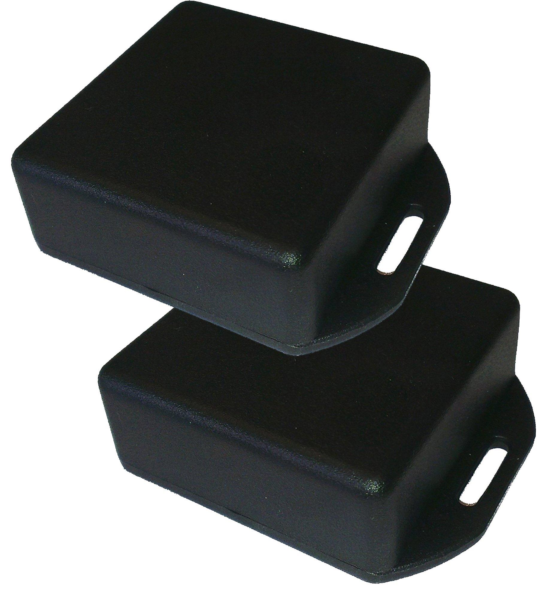Hammond 1551RFLBK (((PACK OF 2)) Black ABS Plastic Flanged Lid Project Box, 50mm x 50mm