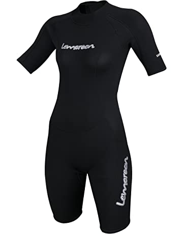 f9275ae457 Lemorecn Wetsuits Adult s Premium Neoprene Diving Suit 3mm Shorty Jumpsuit
