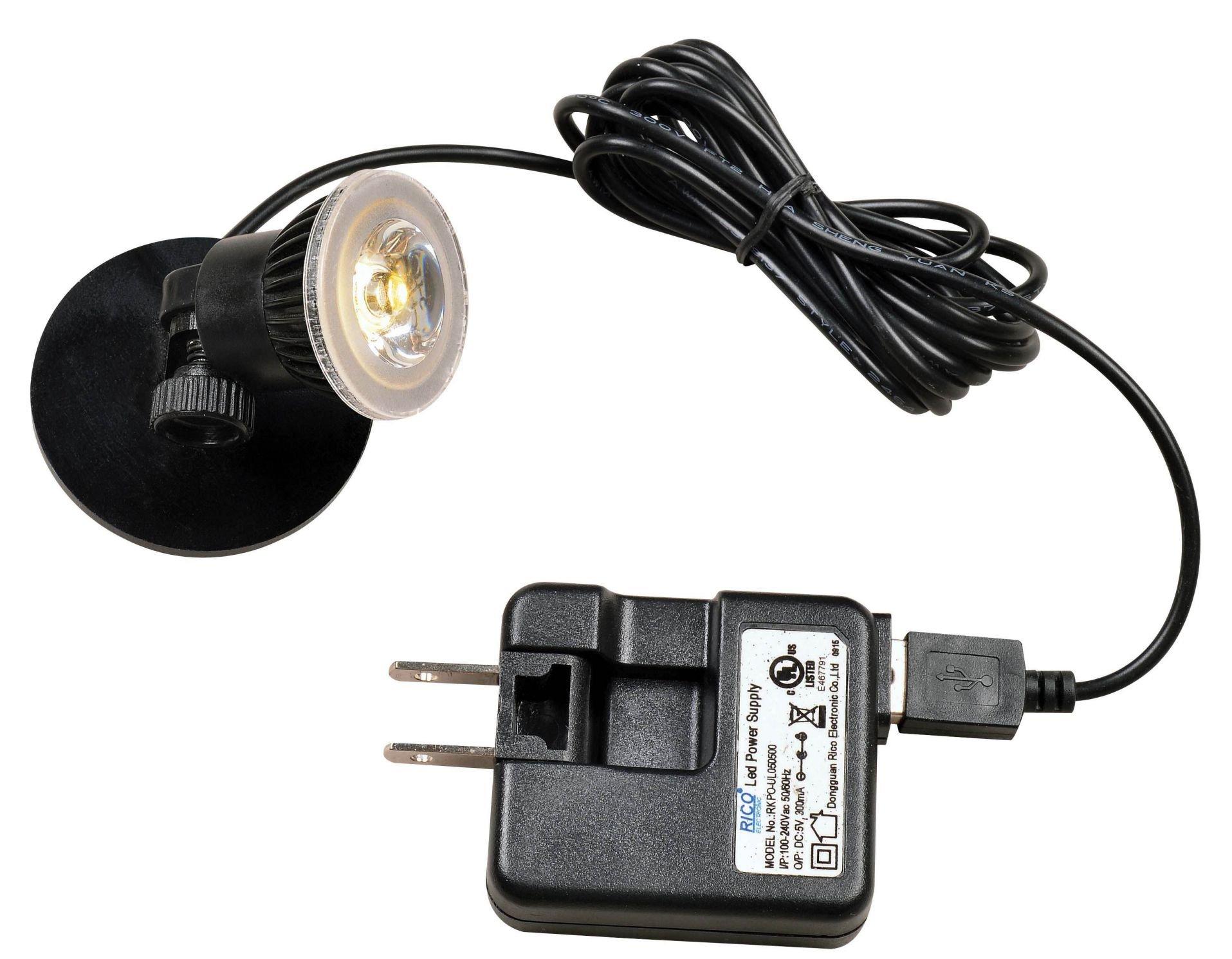 Kenroy Home Micro LED Spot Light 2-Pack Black