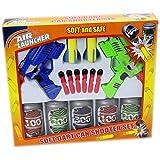 Twin Dart Gun Target Shooting Set - Tin Can Alley Fairground Game