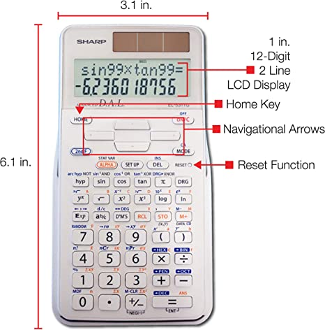 Sharp 183 Function 2-Line Display Advanced D.A.L Scientific Calculator B//Operate