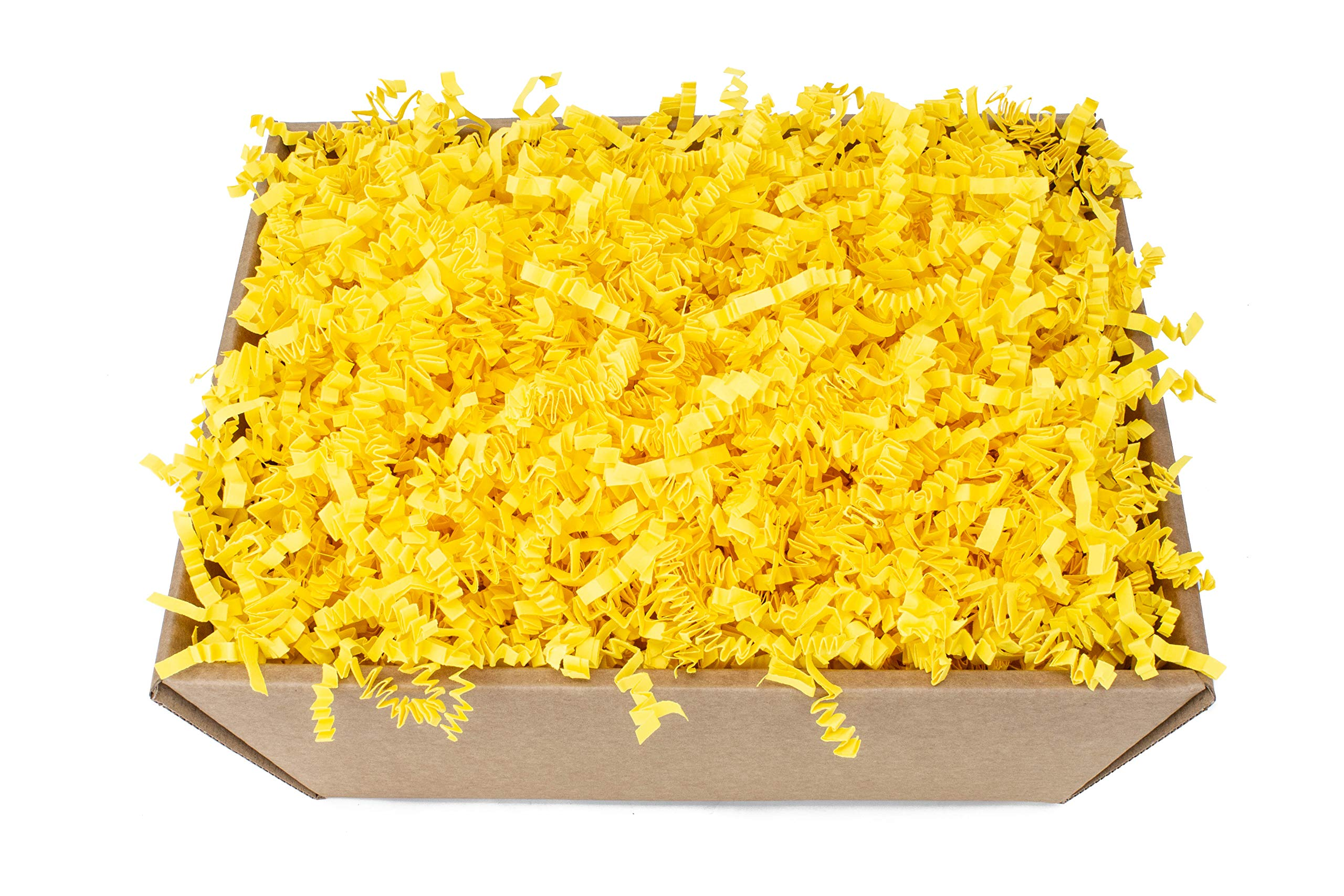 Yellow Zig Zag Shredded Paper - 1 kg - Ideal for Hamper Filling and Gift Packaging