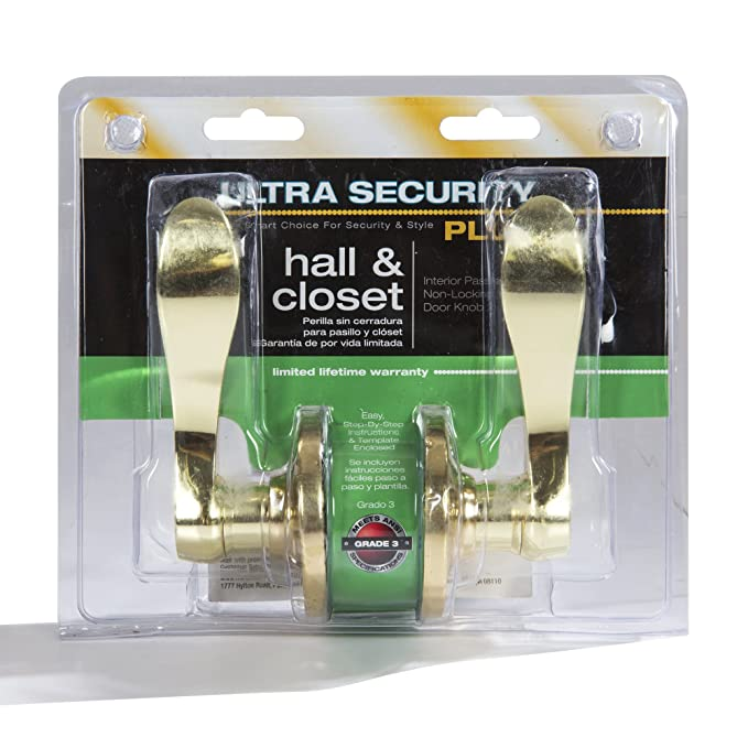 Ultra Hardware 44350 Lexington Wave Lever Passage, Polished Brass - Doorknobs - Amazon.com