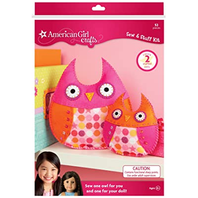 American Girl Pink Owl Bedroom Decor Girls Craft Kit: Arts, Crafts & Sewing