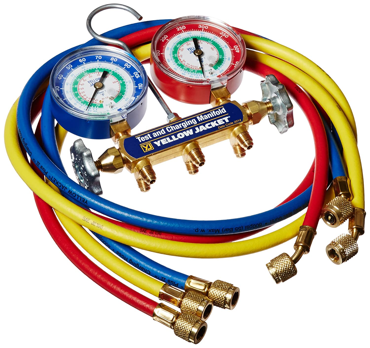 Yellow Jacket 42007 Series 41 Manifold With 3 1 8 Gauge House Wiring Standard 60 Plus Ii Fittings Psi R 12 22 134a Industrial Scientific