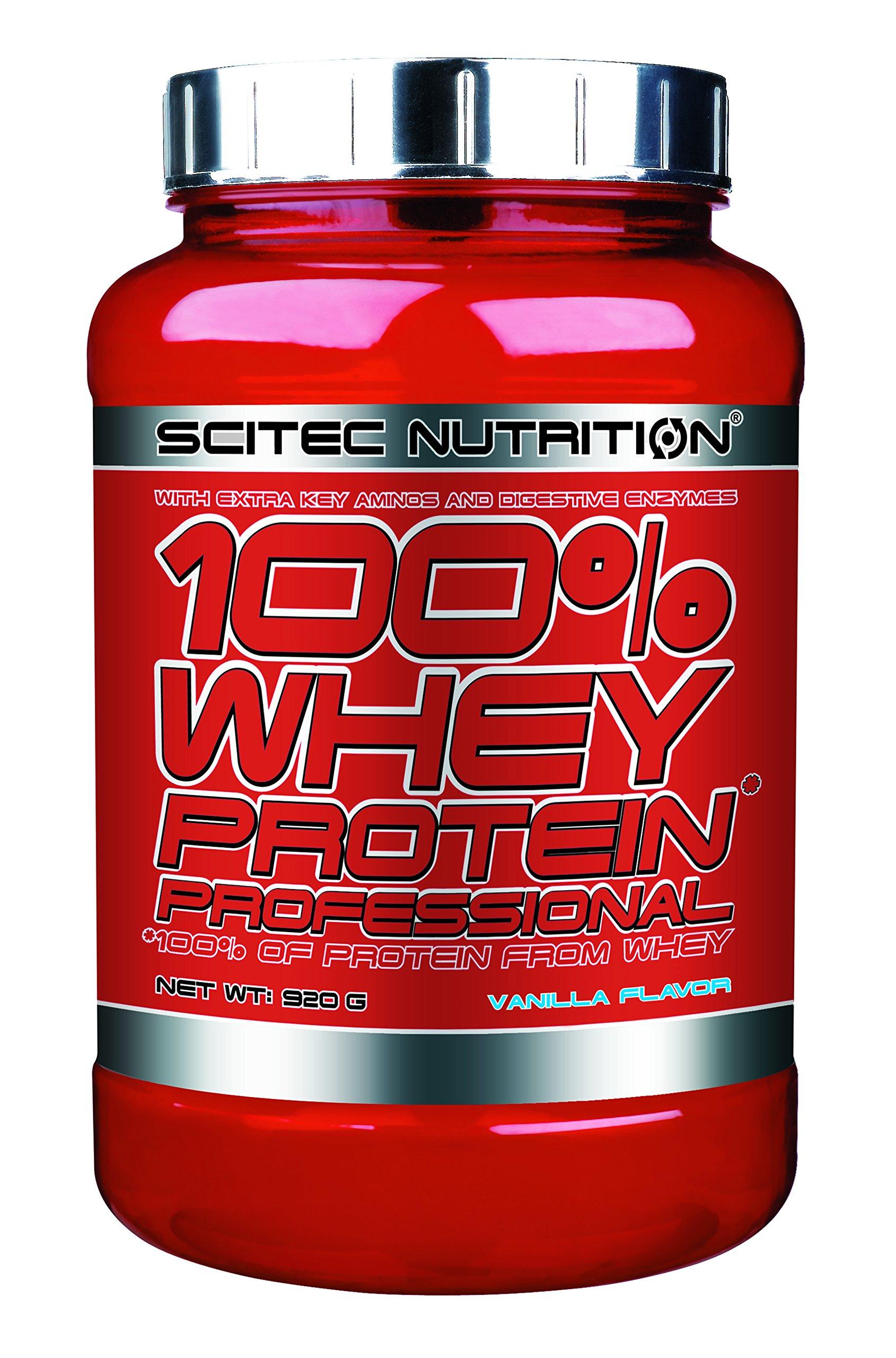 Scitec Nutrition 100% Whey Protein Professional, Vanilla, 2.5 Pound