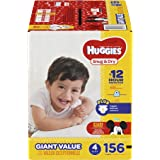 HUGGIES Snug & Dry Diapers, Size 4, for 22-37 lbs., Pack of 156 Count Baby Diapers, Packaging May Vary