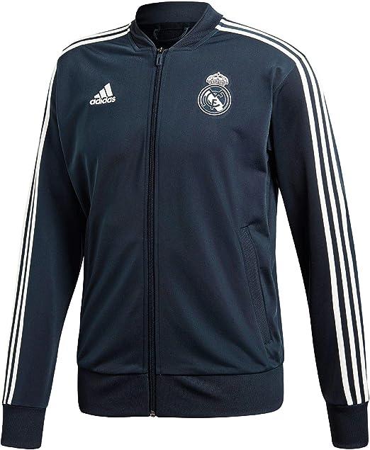 adidas Real Madrid Polyester Chaqueta, Hombre: Amazon.es: Ropa y ...