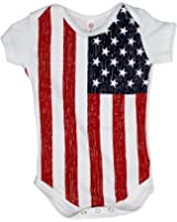 USA Flag Baby Romper Snapsuit