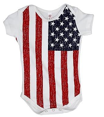 bcef5e5f786 Amazon.com  USA Flag Baby Romper Snapsuit  Clothing