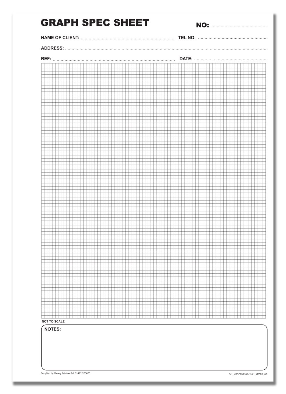 Cherry Carbonless NCR Graph Spec Sheet Duplicate Book A4 50 sets