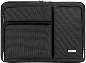 Lacdo 15.6 Inch Laptop Sleeve Computer Case for 15.6 Inch Acer Aspire 5, E 15, Predator Helios 300, Flagship, Inspiron, Ideapad 330, HP Pavilion, OMEN, ASUS TUF, Chromebook Bag, Water Repellent, Black