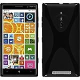 Funda de silicona para Nokia Lumia 830 - X-Style negro - Cover PhoneNatic Cubierta + protector de pantalla