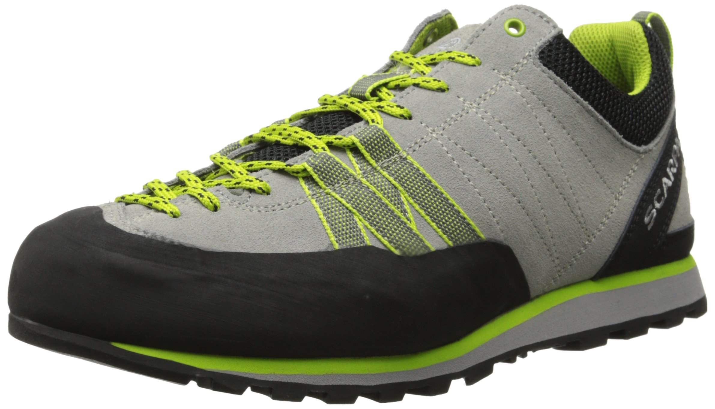 SCARPA Women's Crux Approach Shoe, Oyster/Green Glow, 42 EU/10 M US