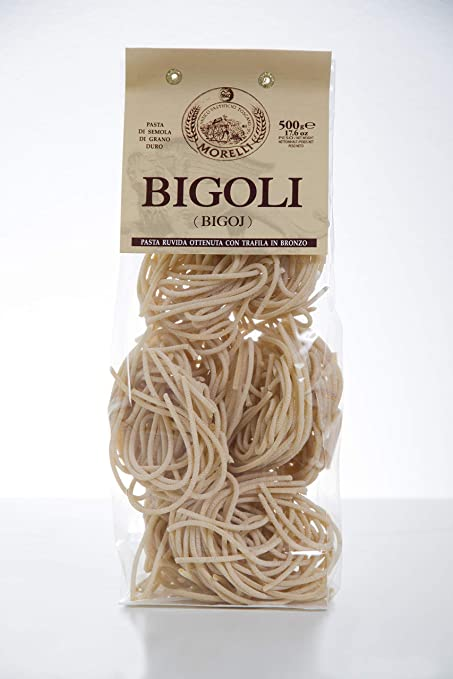 Antico Pastificio MORELLI - Bigoli - Bigoj - 13.22 lbs (12 packs of 17.63 oz) - Italian Artisan Pasta made in Tuscany