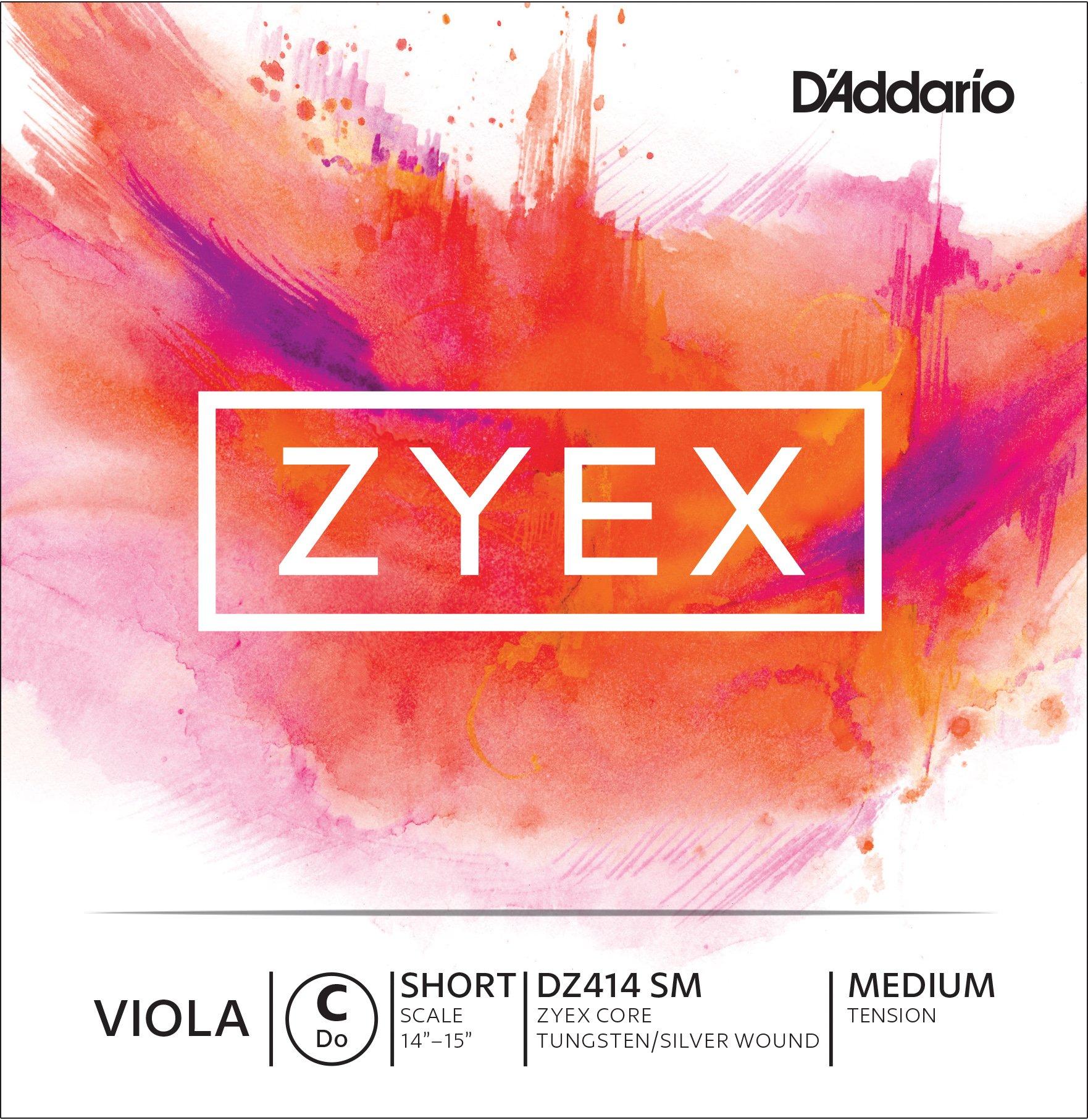 D'Addario Zyex Viola Single C String, Short Scale, Medium Tension