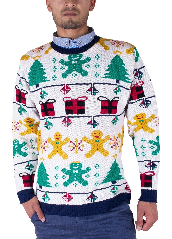 Noroze 70s Suéter Retro Navidad Prendas de Punto Jerséis Cárdigan para Hombre Unisexo: Amazon.es: Ropa y accesorios