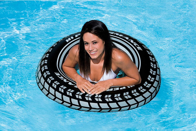 Amazon.com: Intex B01N0I7CX9 Giant tire Tube (36 Inches) (4-Pack), Black: Home & Kitchen