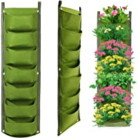 T Tersely 7 Pockets Vertical Hanging Planter,New Layout Indoor Outdoor Wall Garden Planter, Plant Grow Bags, Flowerpot…