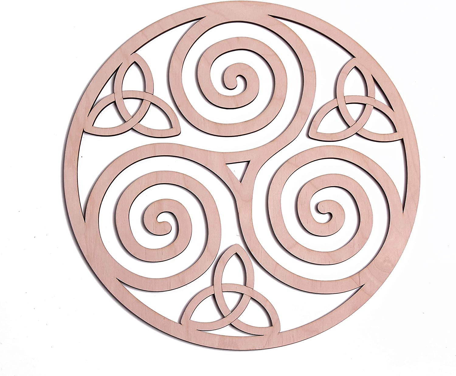 "Triskelion Celtic Knot, Triskele Knot Wooden Wall Art 12"", Celtic Art, I Irish Symbols,Celtic Triple Spiral, Celtic Decor, Irish Wall Art, Triple Helix Spiral, Fourth Level Mfg. Designs"