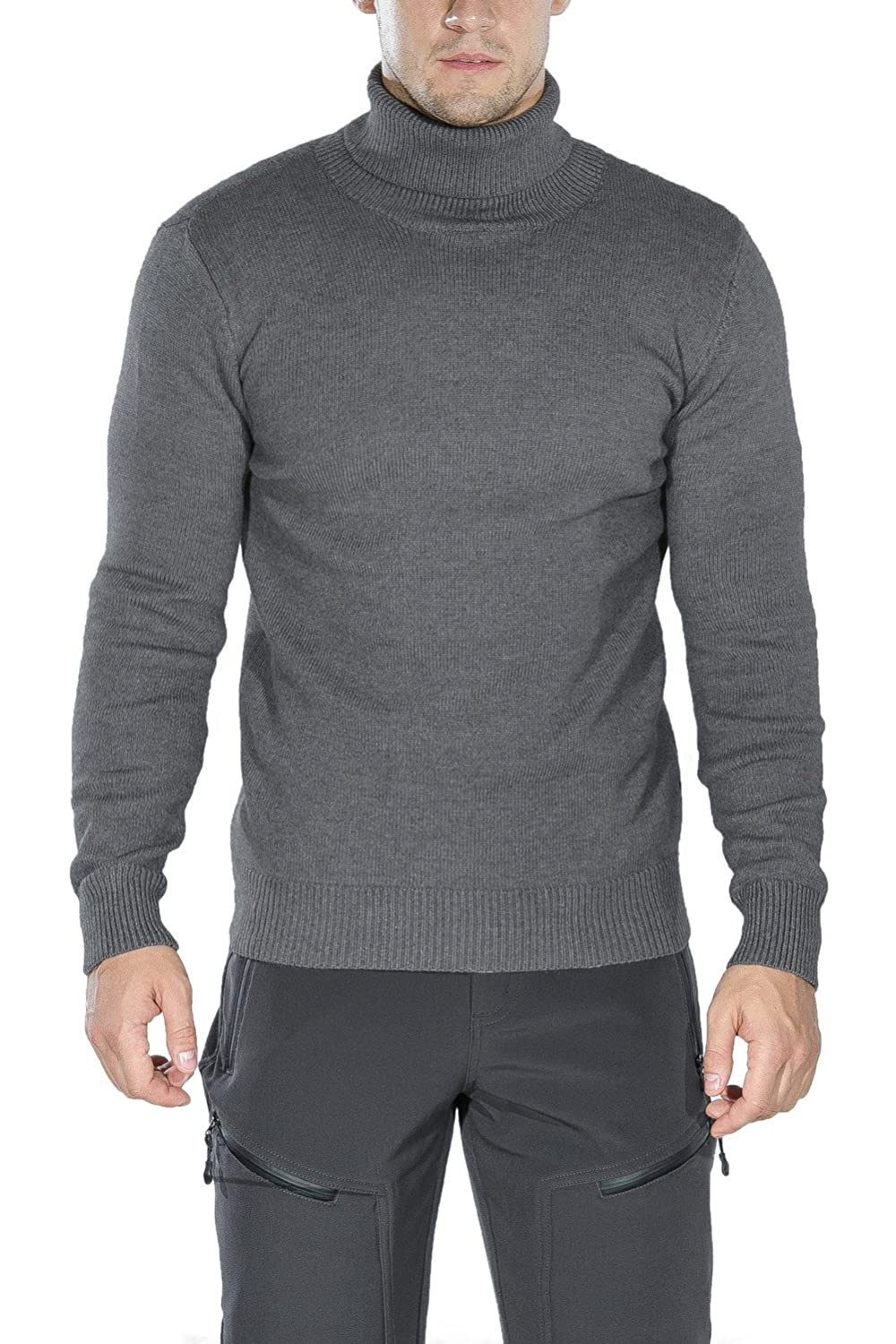Rocorose men Long Sleeves High neck Plain Classic Casual jumper RR7218033