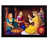 eCraftIndia 'Women chit-Chat' UV Art Painting (Synthetic Wood, 36 cm x 28 cm, Satin Matt Texture)