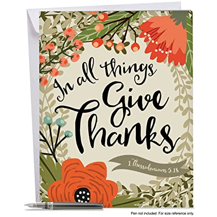 Amazon giant thank you greeting card with envelope 85 x 11 giant thank you greeting card with envelope 85quot x 11quot m4hsunfo