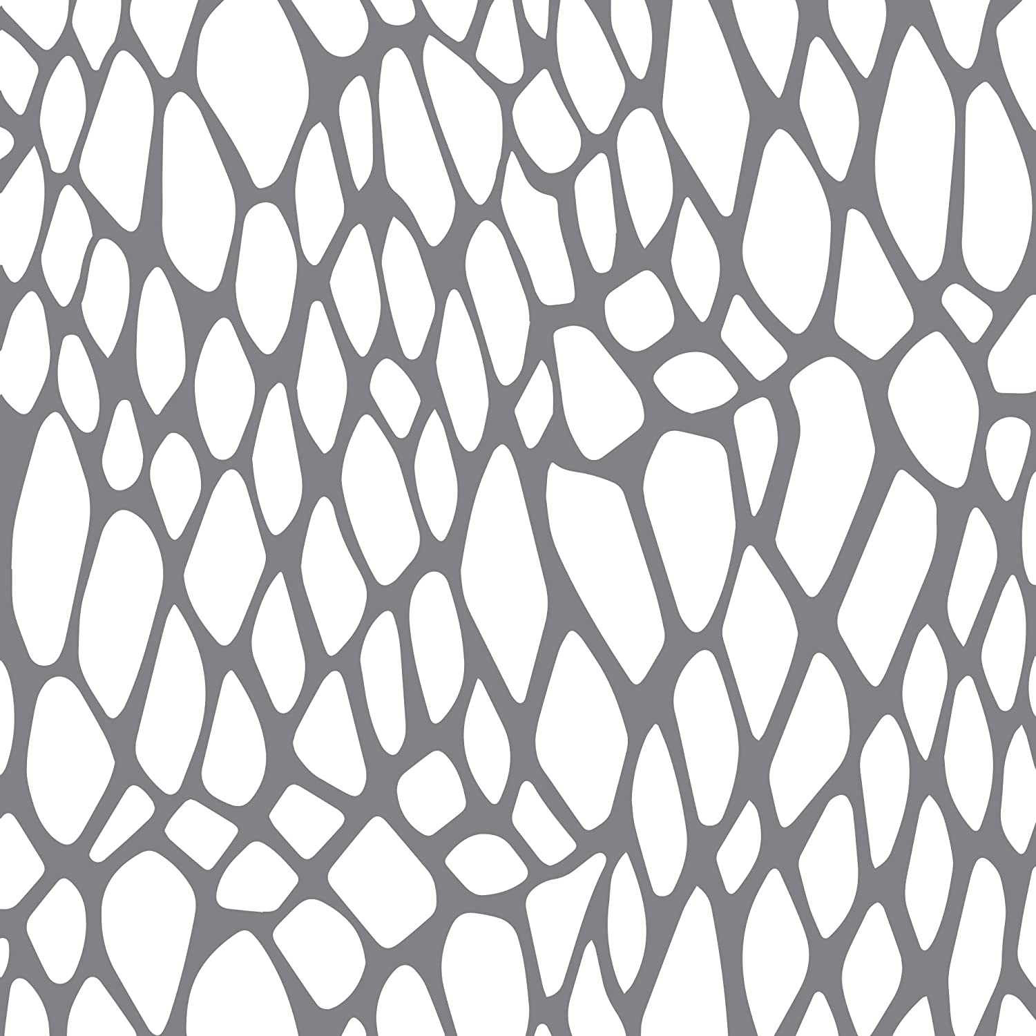 Andy Skinner Mixed Media Snake's Web Stencil, Grey, 6 x 6-Inch DecoArt ANDY55-K