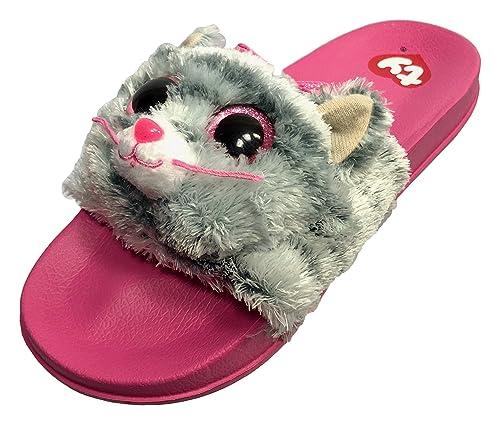 b9fa45431ccf Beanie Boo Flip Flop for Girls Kiki Kitty Cat Slider Shoe Slip On Slider  (Large