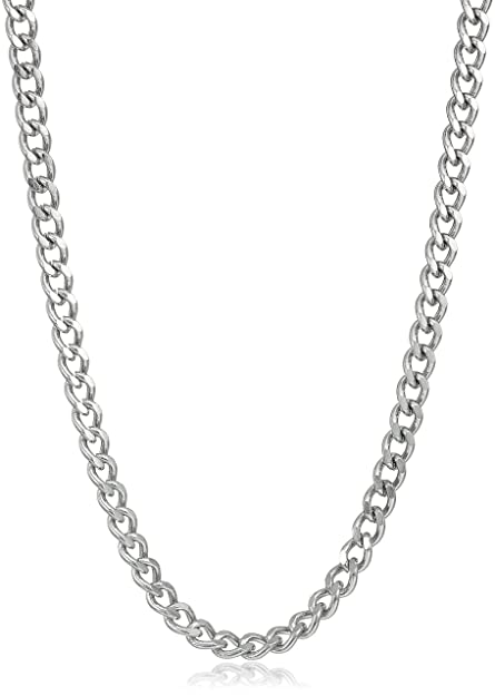 Fine Jewelry Mens Stainless Steel 24 3mm Curb Chain moy9S