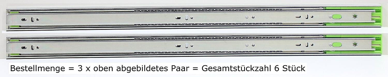 Schubladenschienen Schubladenausz/üge Teleskopausz/üge Selbsteinzug D/ämpfer Vollauszug Softclose L/ängen in 250,300,350,400,450,500,550,600,650,700mm,H/öhe 45mm,L/änge 400mm,1-8 Paare,4 Paar=8 St/ück
