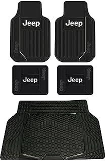 Elegant 5pc Jeep Original Logo Elite Style Universal Front And Rear Rubber Floor