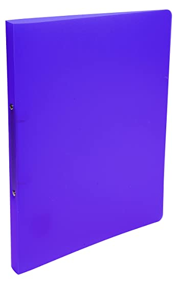 Ringbuch aus PP mit 2 Ringen für Format DIN A4 violett Rücken 20mm
