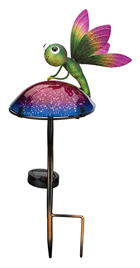 Amazon Com Regal Art Gift 11797 Mushroom Critters Stake Solar
