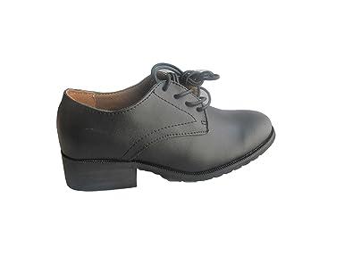 0559900ce129 Academy Girls Lace up Leather School Shoe (4 UK)  Amazon.co.uk ...