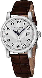 Montblanc 107315 Star White Dial Brown Strap Mens Watch