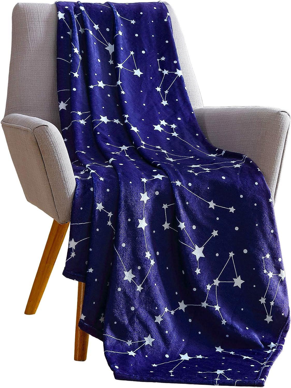 Stellar Starry Sky Themed Soft Velvet Fleece for Kids Big Believers Plush Throw Blanket