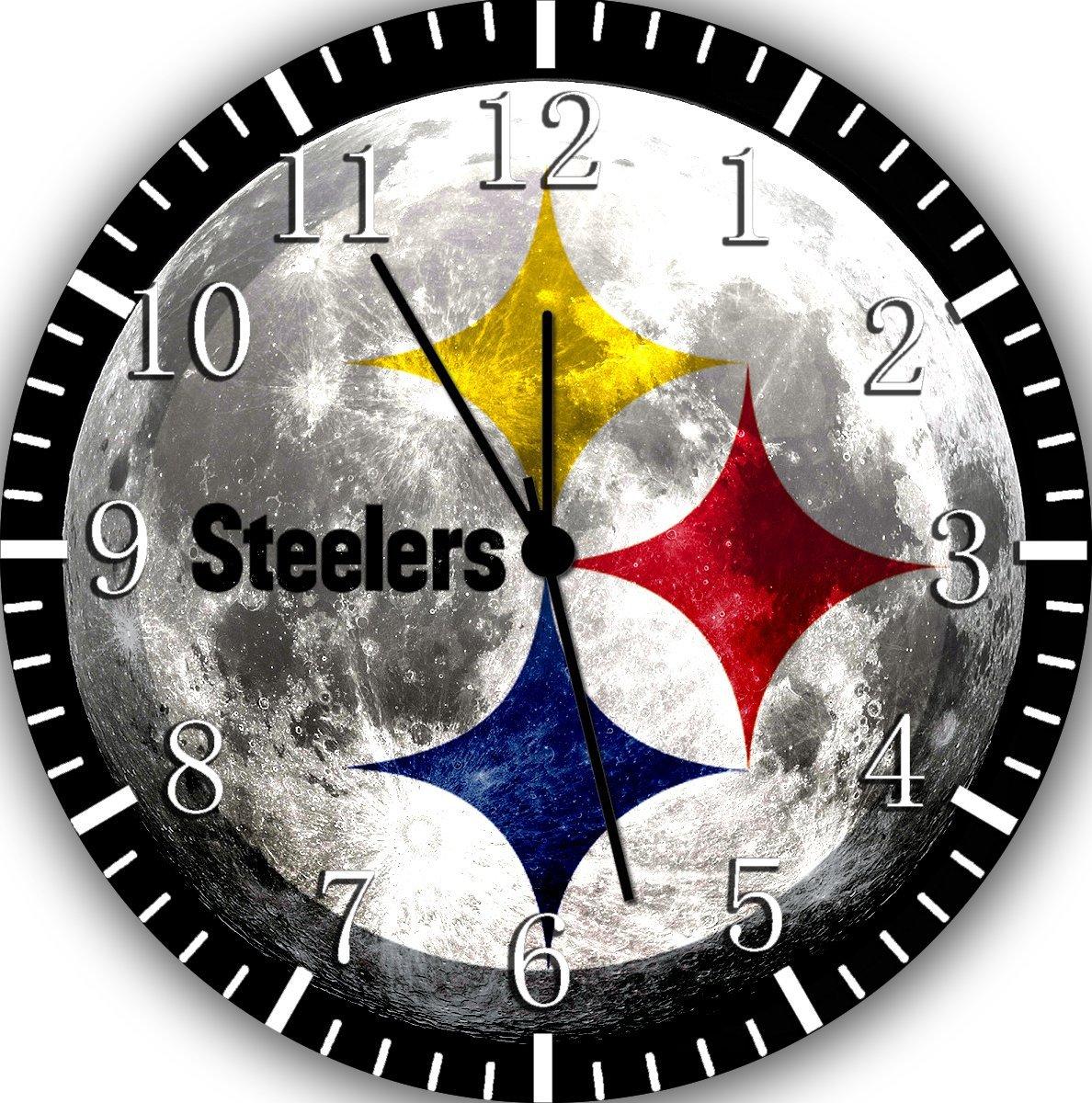 Steelers Frameless Borderless Wall Clock F36 Nice For Gift or Room Wall Decor