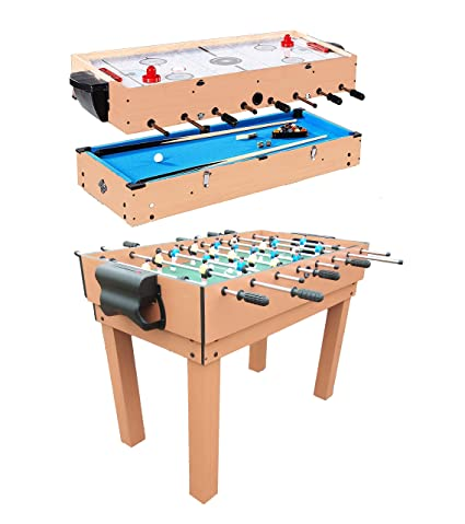 HaxTON 5 In 1 Combination Game Table Include Air Hockey Table, Foosball  Table, Pool
