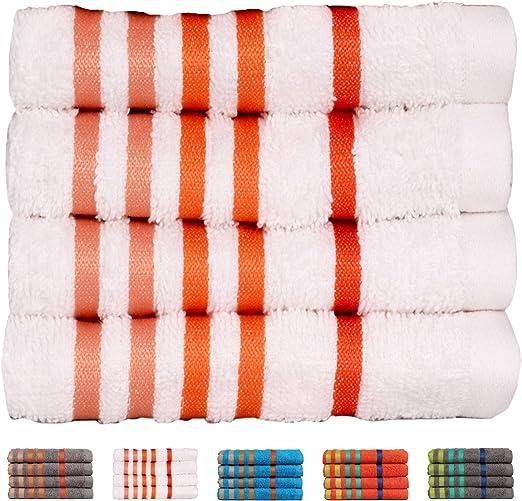 475 GSM 2 Pack Bath Towels Set Blue Casa Copenhagen Exotic Cotton Medium size 24 inches by 47 inches