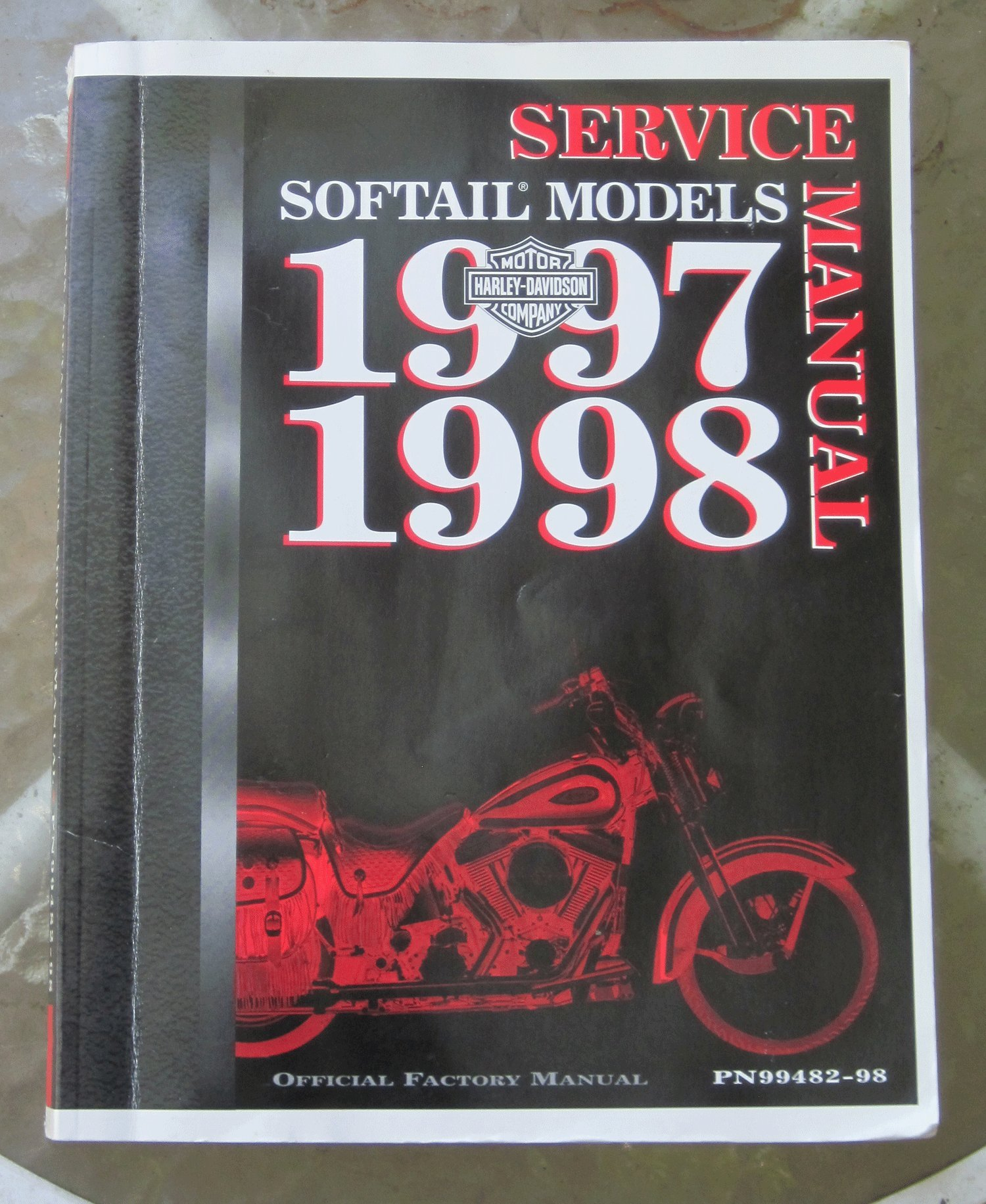 Harley-Davidson Motor Company Service Manual Softail Models 1997 1998.  Official Factory Manual PN99482-98: N/a: Amazon.com: Books