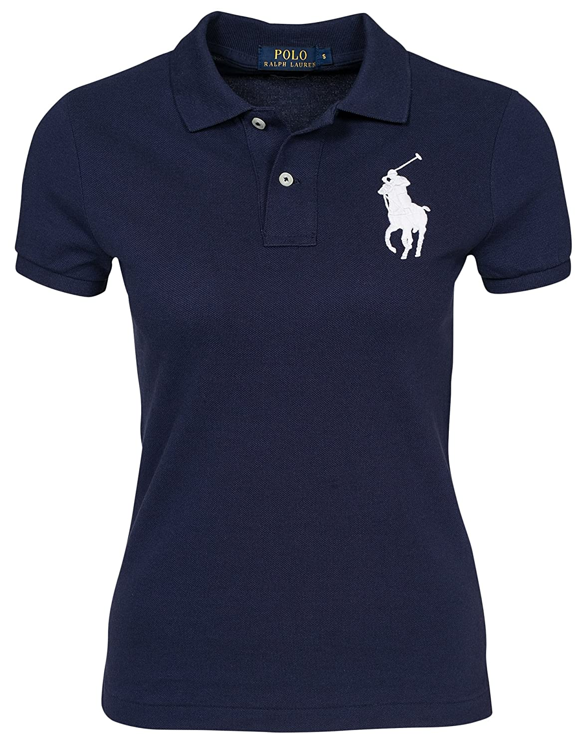 Ralph Lauren Polo WW - Polo SS Knit mujer Marino Taille X-Large ...