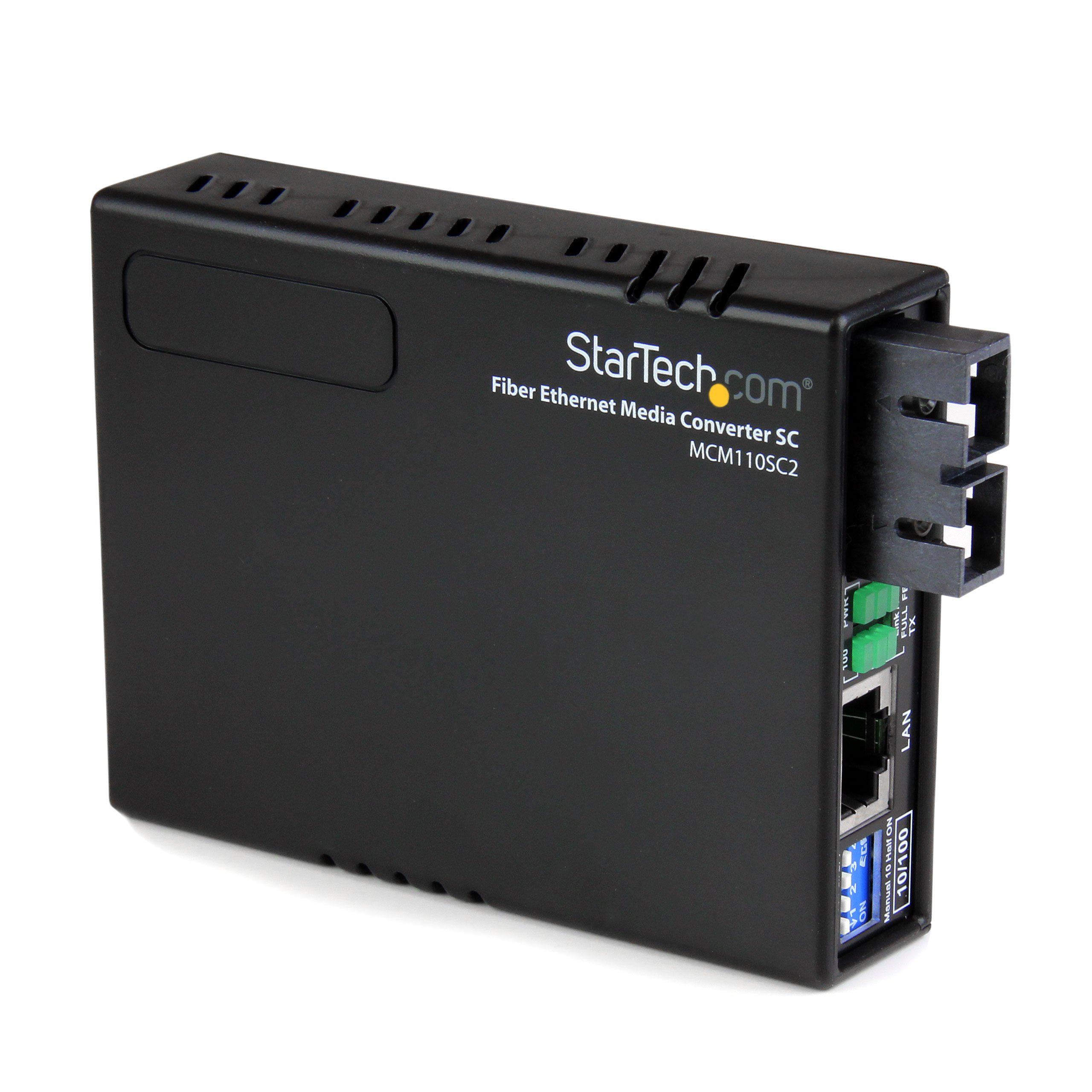 StarTech.com 2 km Fiber Media Converter - 10/100Mbps Ethernet - Multi Mode SC Fiber - Ethernet Media Converter - (MCM110SC2) by StarTech