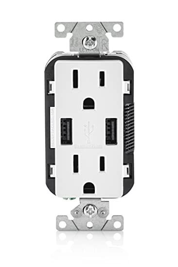 leviton t w amp usb charger tamper resistant duplex leviton t5632 w 15 amp usb charger tamper resistant duplex receptacle white