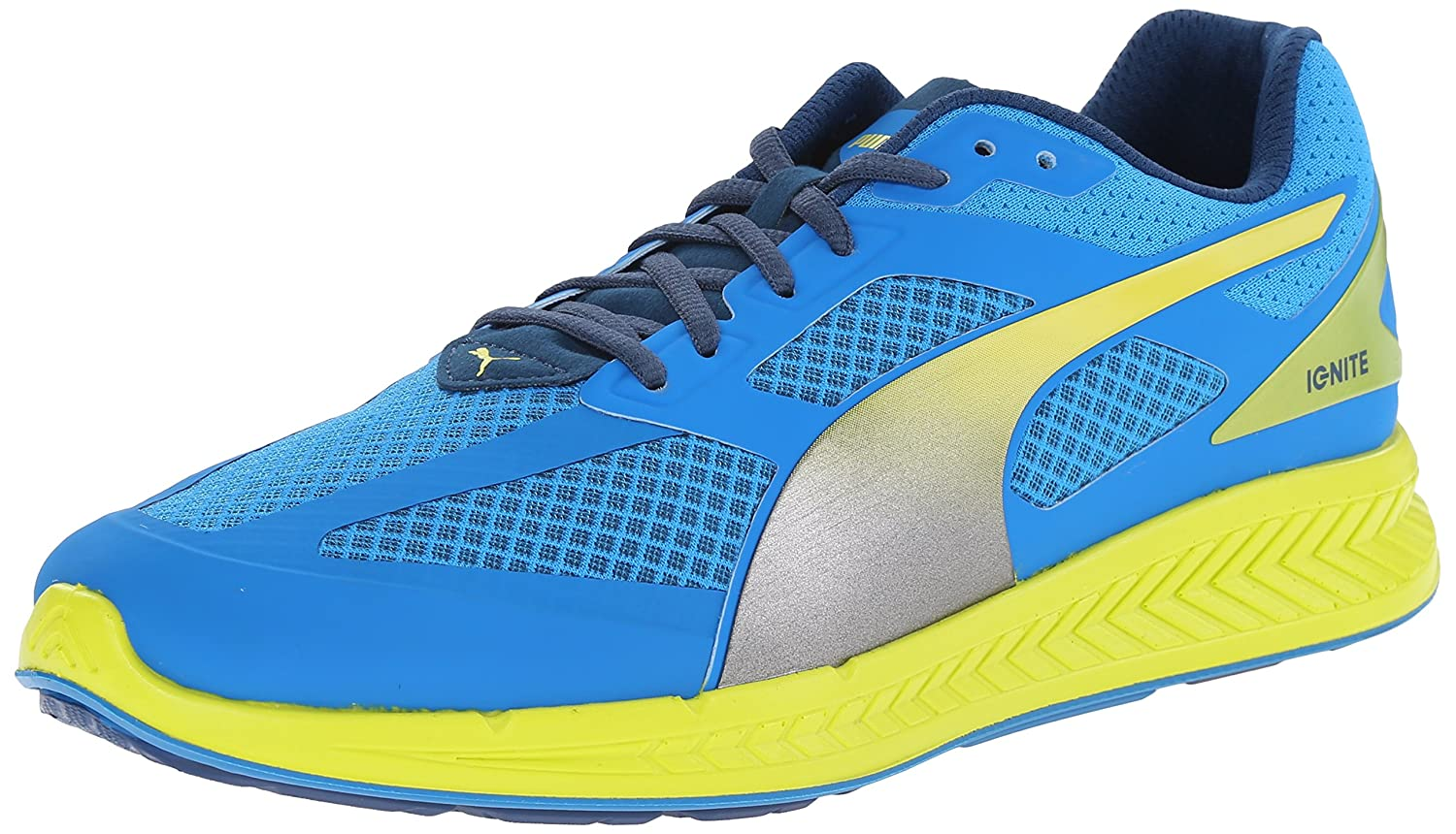 PUMA Men's Ignite NM Running Shoe B00QJ0VLL2 12 W US|Cloisonnee/Poseidon/Sulphur Spring
